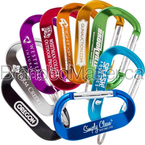 LogoBeener® 70mm Branded Carabiners