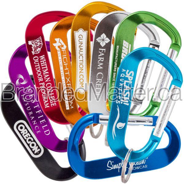 LogoBeener® 80mm Promotional Carabiners