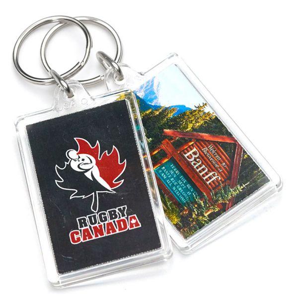 Acrylic Rectangle Promotional Keychains