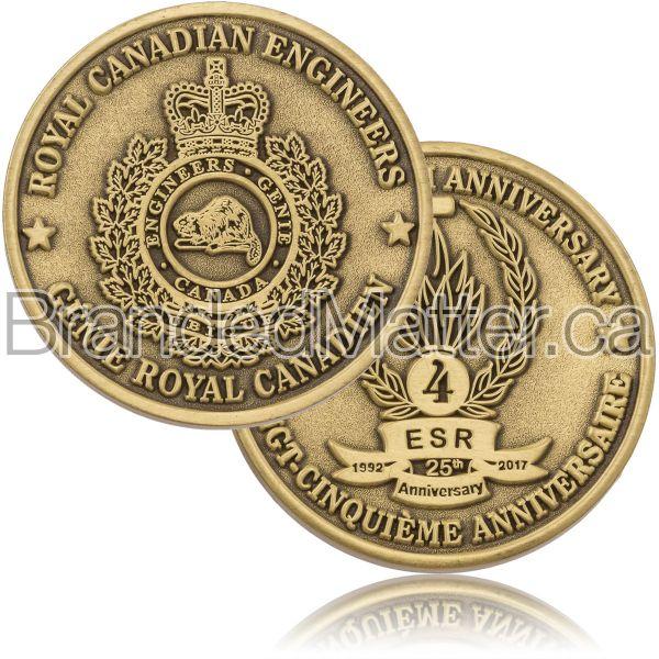 Antiqued Gold Custom Coins in Canada