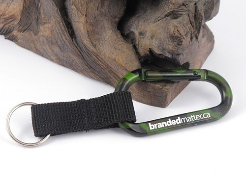 Large 80mm Camouflage Carabiners with Strap