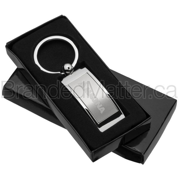 Curved Rectangle Branded Keychains