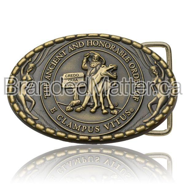 Custom Antiqued Belt Buckles