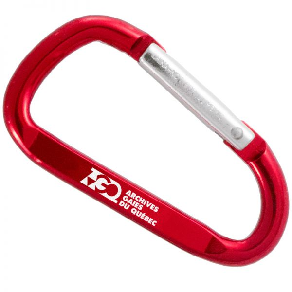 60mm carabiner keychain with customized engraving