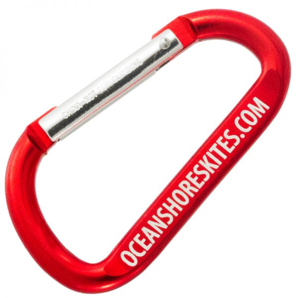 80mm carabiner keychain with customized engraving