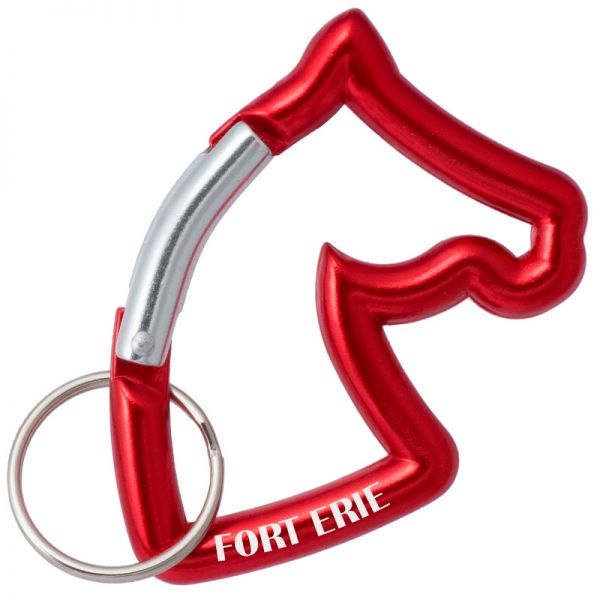 Horse head shaped carabiner with customized engraving