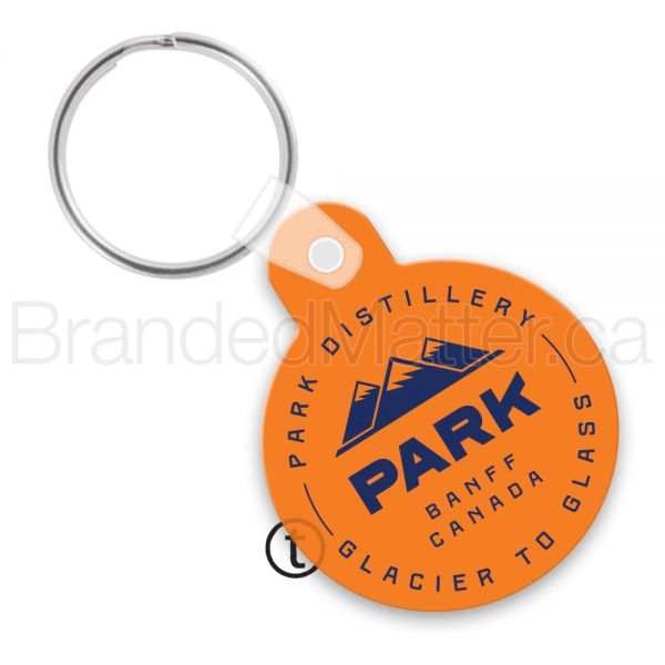 Small Round Vinyl Keychains with Tab