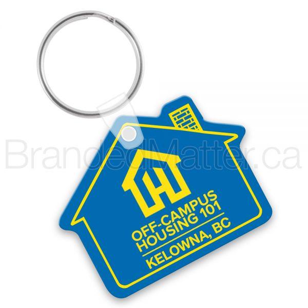 House Shape Vinyl Promo Keychains