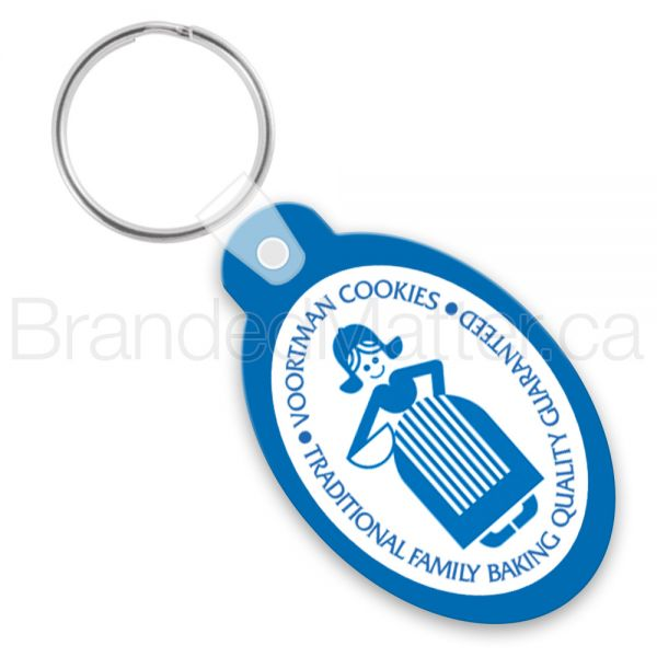 Oval With Tab Promo Keychains