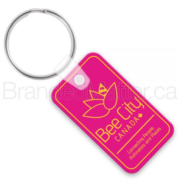 Rectangle With Rounded Corners Keychains