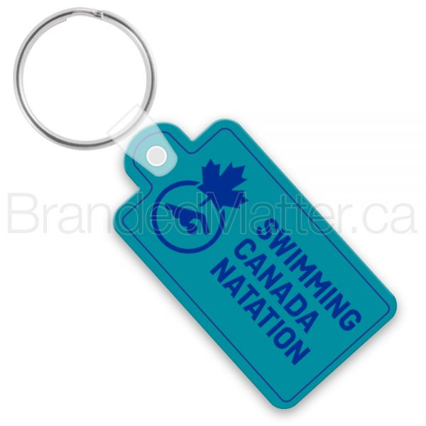 Large Rectangle with Tab Vinyl Keychains