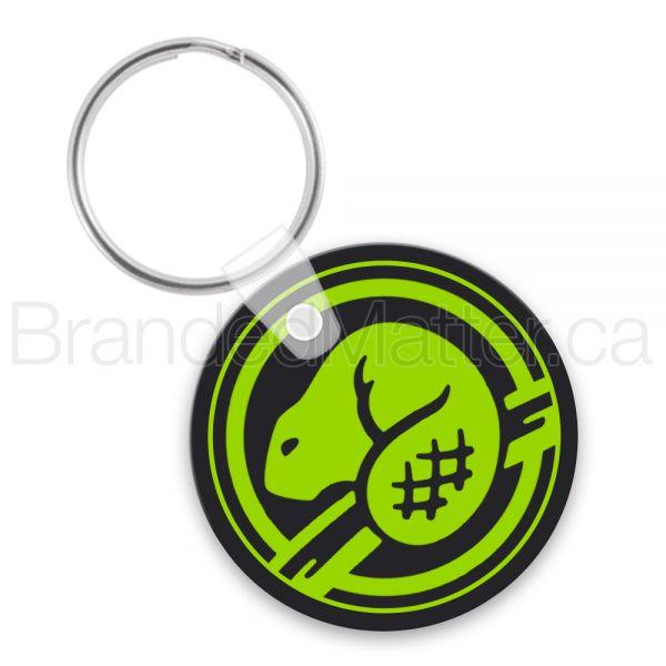 Small Circle Soft Vinyl Keychains