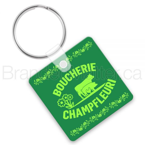 Rounded Square Soft Vinyl Keychains