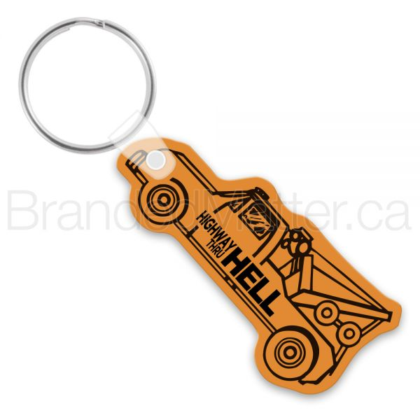 Tow truck shape keychains