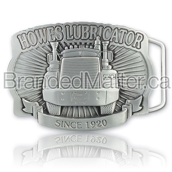 Custom Shaped Pewter Belt Buckle