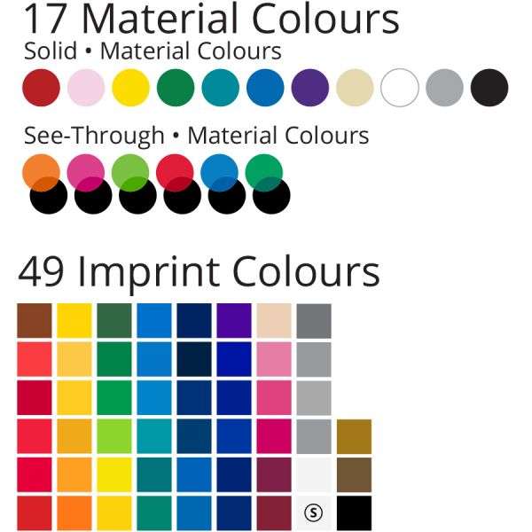 Vinyl keychain colour chart