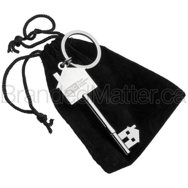 Metal House Keychains
