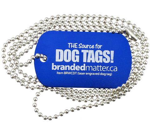 Custom laser engraved dog tag