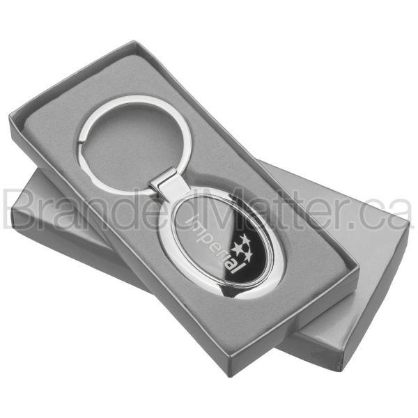 Onyx Oval Promotional Keychains
