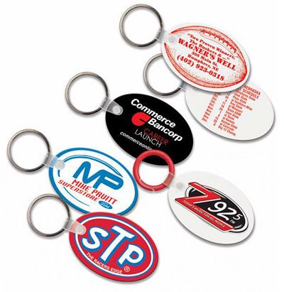 Oval Promo Keychains