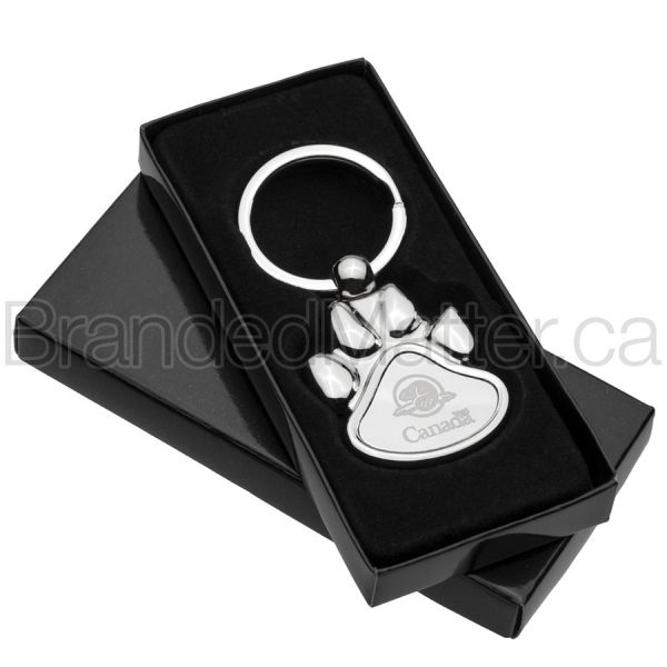 Polished Paw Engraved Keychains