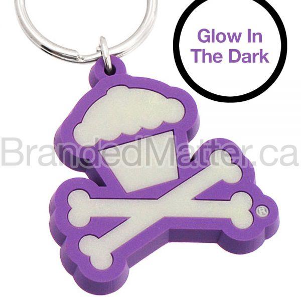 PVC Keychains Custom Shaped Glow in The Dark