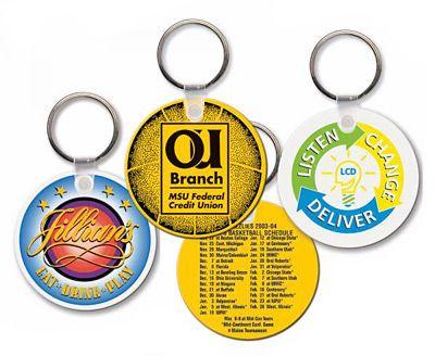 Round promo keychains