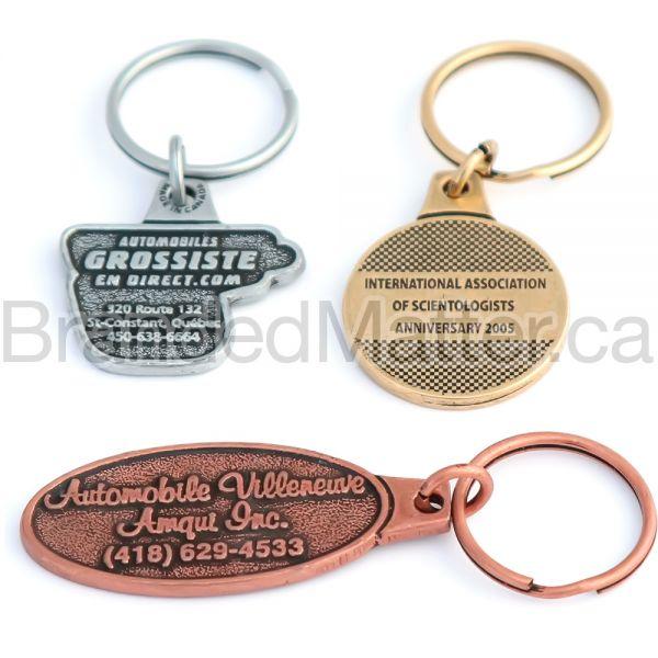 MetaCast Custom Shape Metal Keychains