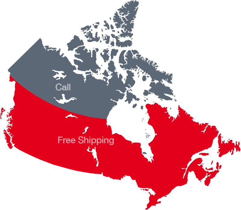 Free Shipping in Canada Map